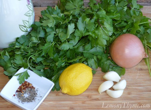 Chimichurri Sauce Ingredients
