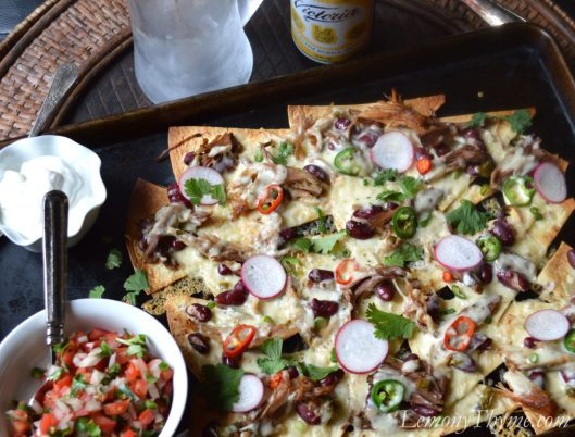 Jalapeno Pulled Pork Loaded Nachos