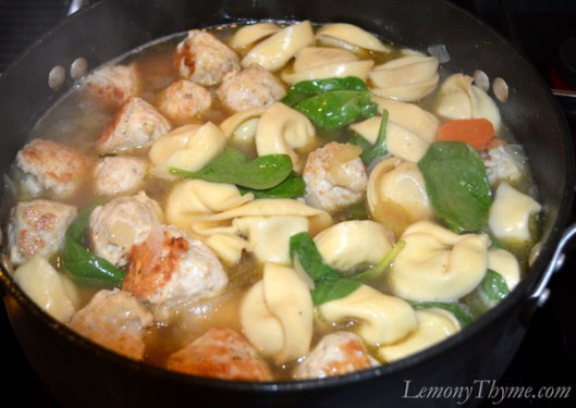 Lemon, Tortellini & Meatball Soup2