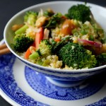 Thai Peanut Chicken Rice.Grain Bowl