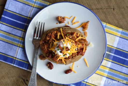 Baked Potato with Chili & Cheese