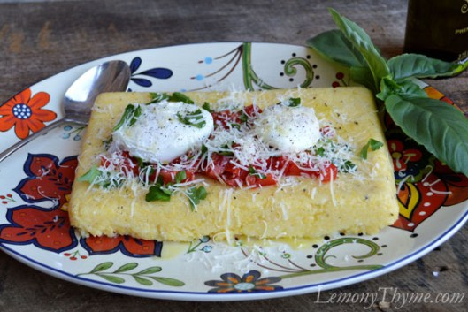 Herb Infused Polenta with Poached Eggs1