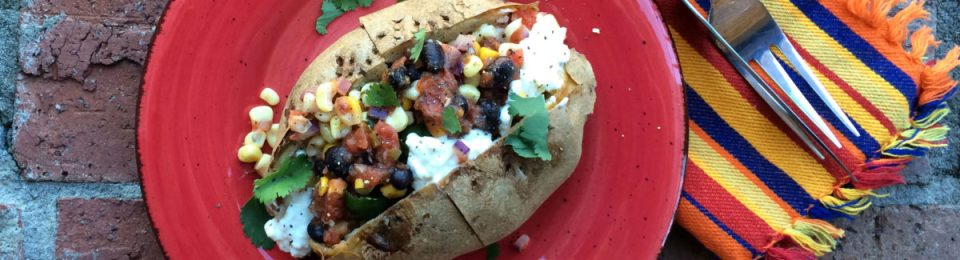 Pleasing Southwest Baked Potato With Cottage Cheese Lemony Thyme Interior Design Ideas Gentotryabchikinfo