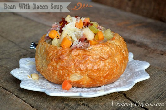 Bean With Bacon Soup with Banner