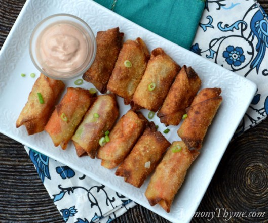 Corned Beef & Cabbage Egg Rolls with Russian Dressing
