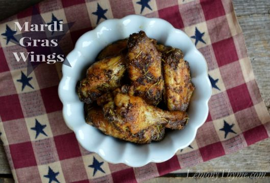 Mardi Gras Wings from Lemony Thyme