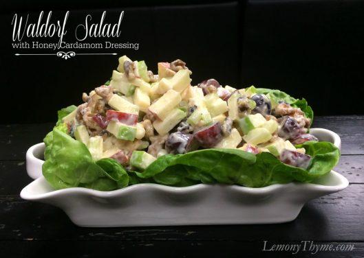 Waldorf Salad with Honey Cardamom Dressing