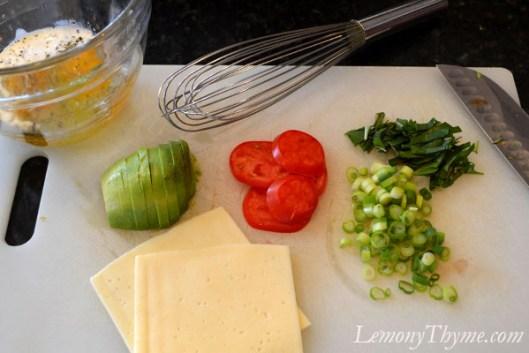 Avocado Tomato & Basil Omelet1