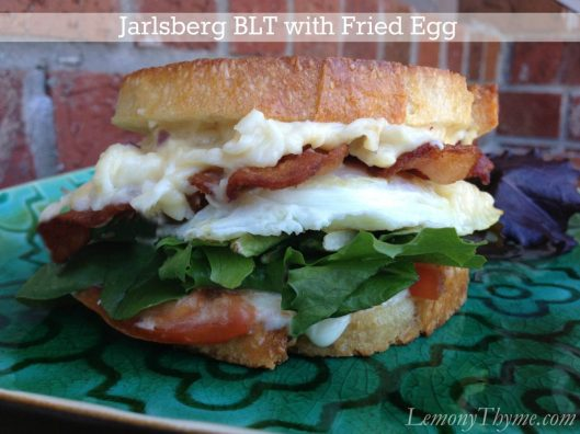 Jarlsberg BLT wth Fried Egg from Lemony Thyme