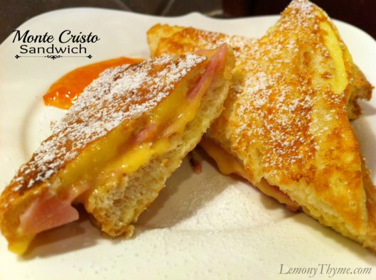 Monte Cristo Sandwich from Lemony Thyme