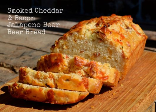Smoked Cheddar & Bacon Jalapeno Beer Bread from Lemony Thyme