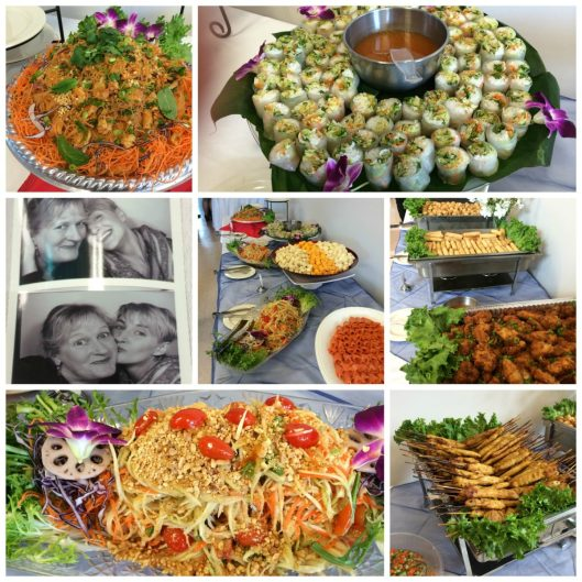 Thai Appetizer Collage