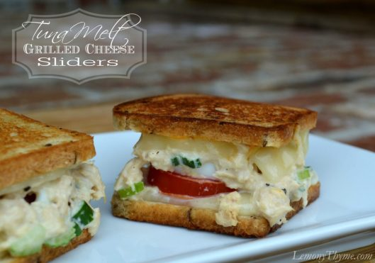 Tuna Melt Grilled Cheese Sliders from Lemony Thyme