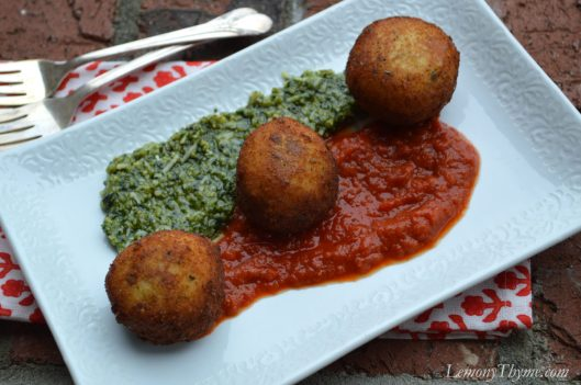 Arancini with Pesto & Rao1