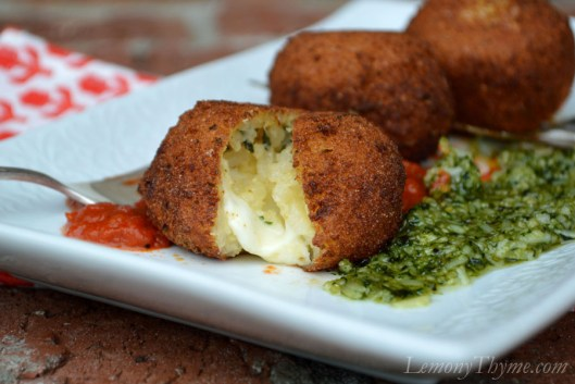 Arancini with Pesto & Rao2