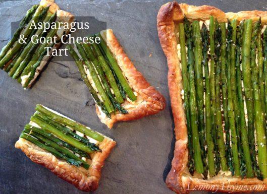 Asparagus & Goat Cheese Tart from Lemony Thyme