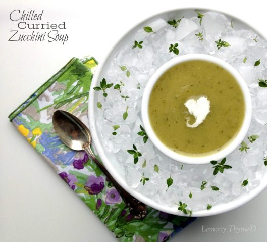 Chilled Curried Zucchini Soup from Lemony Thyme