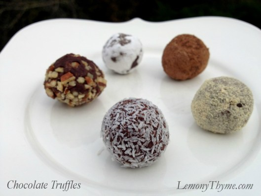 Chocolate Truffles from Lemony Thyme