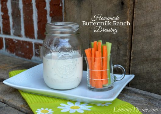 Homemade Buttermilk Ranch Dressing from Lemony Thyme