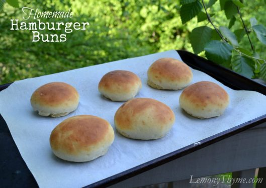 Homemade Hamburger Buns from Lemony Thyme