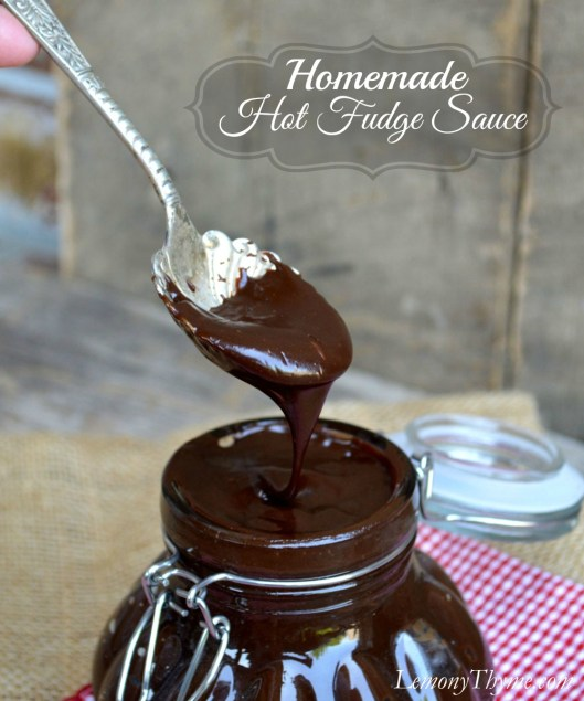 Homemade Hot Fudge Sauce from Lemony Thyme