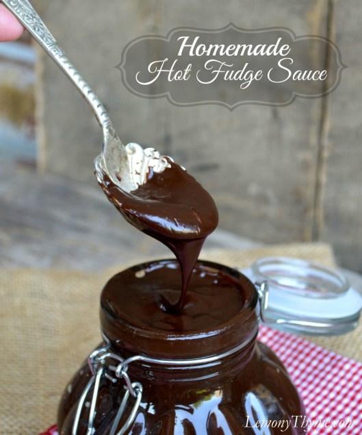 Homemade Hot Fudge Sauce from Lemony Thyme