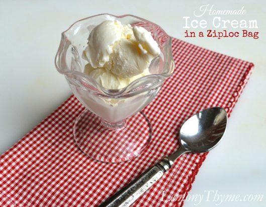 Homemade Ice Cream in a Ziploc Bag