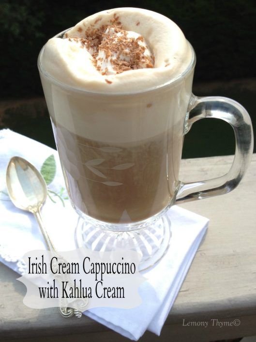 Irish Cream Cappuccino with Kahlua Cream from Lemony Thyme