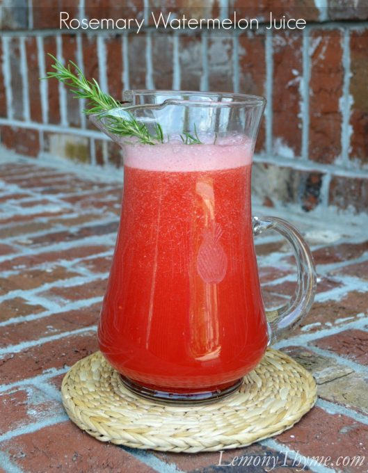 Rosemary Watermelon Juice from Lemony Thyme