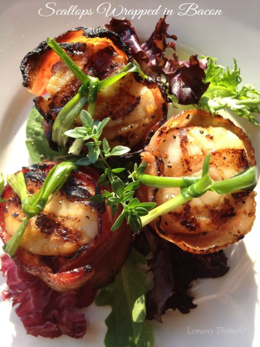 Scallops Wrapped in Bacon from Lemony Thyme