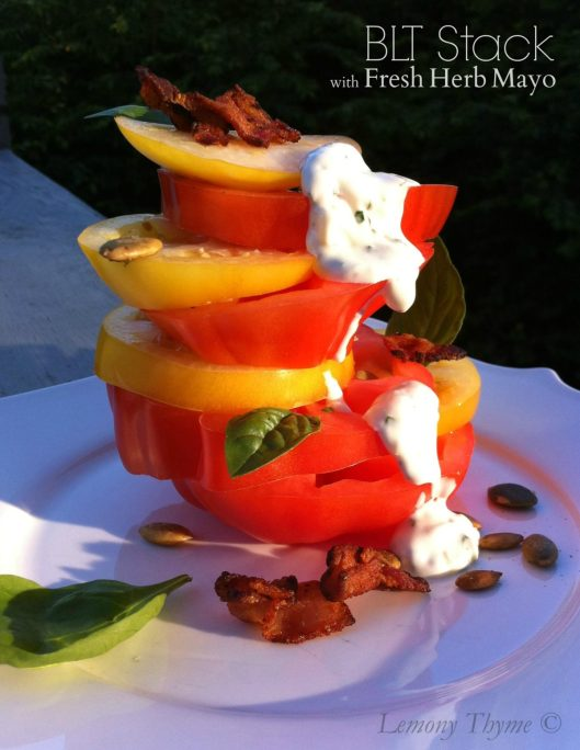 BLT Stack with Fresh Herb Mayo
