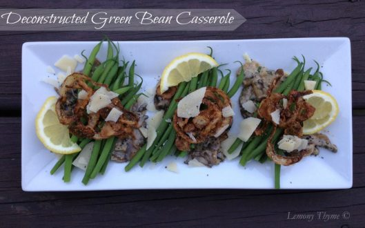 Deconstructed Green Bean Casserole from Lemony Thyme