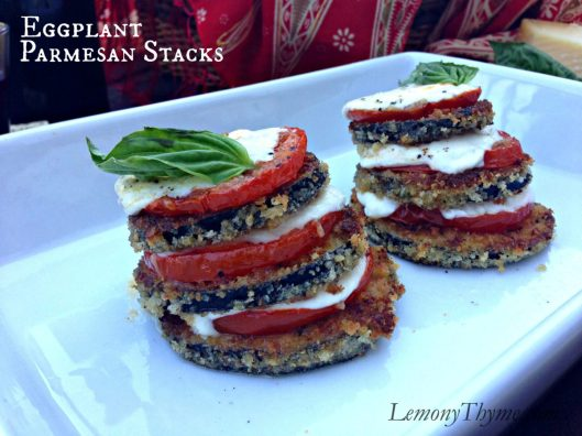 Eggplant Parmesan Stacks from Lemony Thyme