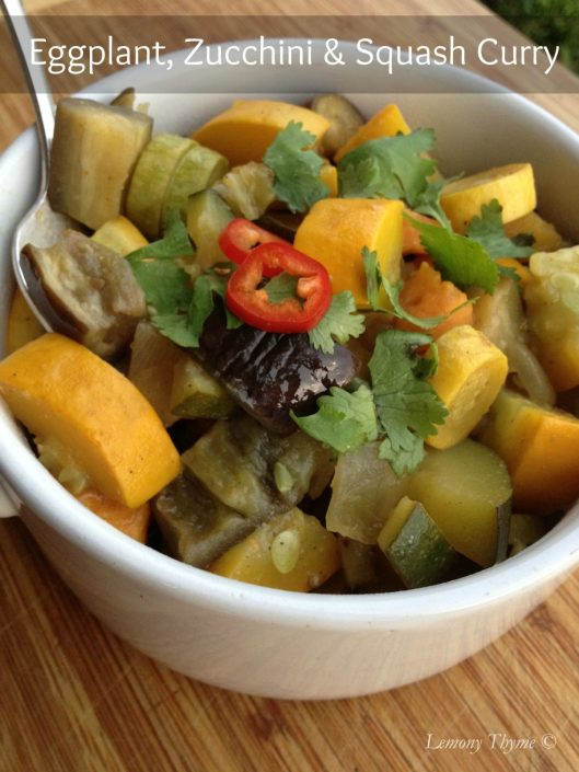 Eggplant, Zucchini & Squash Curry from Lemony Thyme