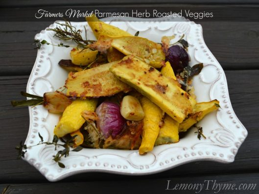 Farmers Market Parmesan Herb Roasted Veggies