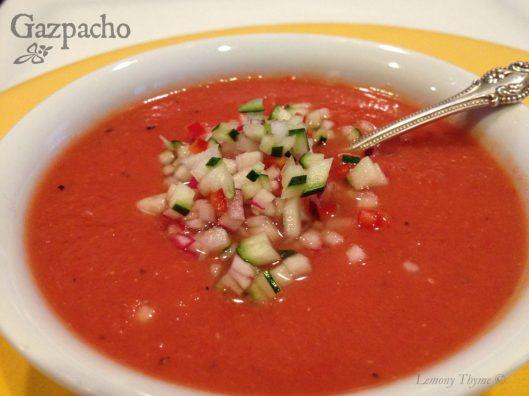 Gazpacho from Lemony Thyme