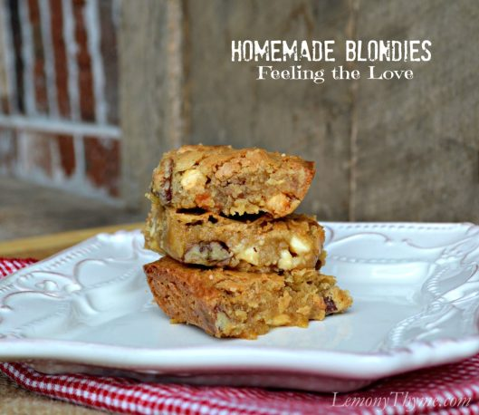 Homemade Blondies Feeling the Love