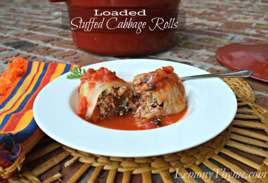 Loaded Stuffed Cabbage Rolls from Lemony Thyme