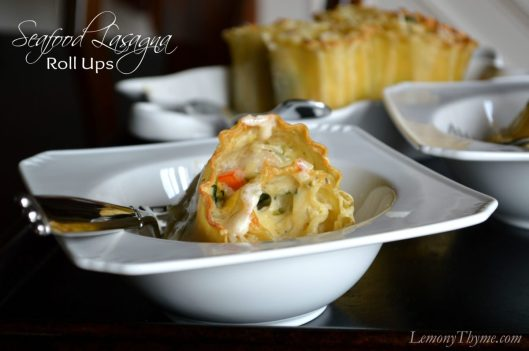 Seafood Lasagna Roll Ups from Lemony Thyme