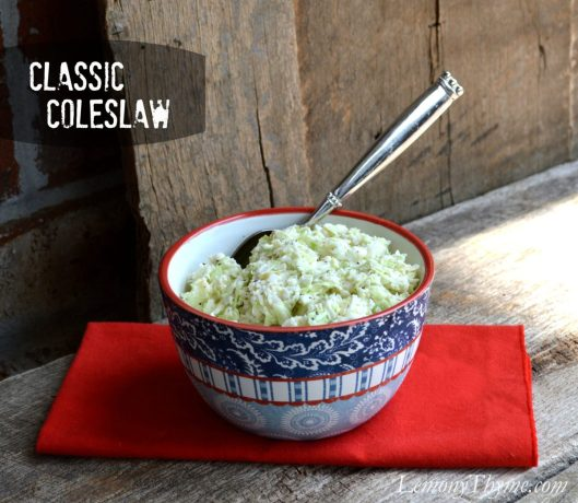 Classic Coleslaw from Lemony Thyme