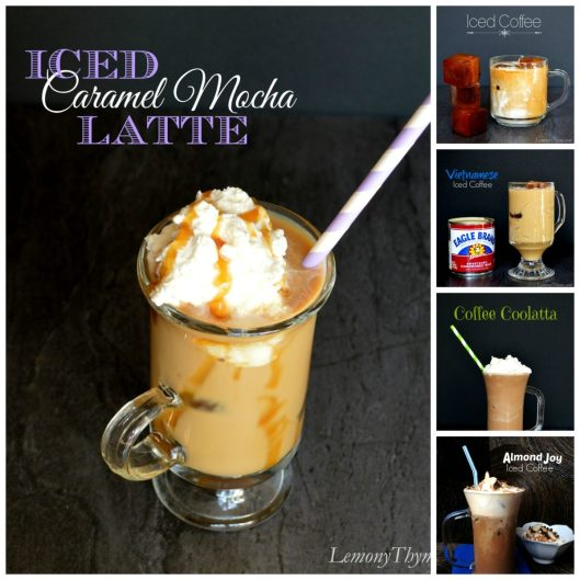 Iced Coffee Collage from Lemony Thyme