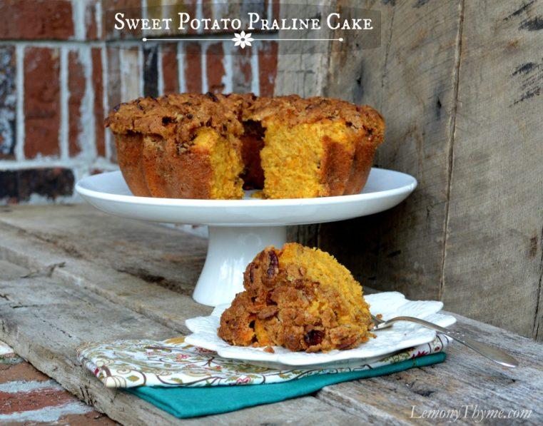 Sweet Potato Coffee Cake with Pralines
