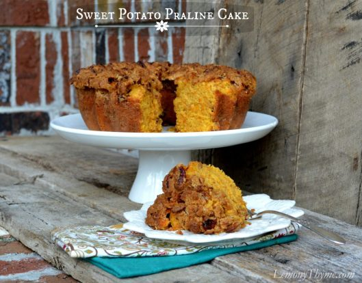 Sweet Potato Coffee Cake with Pralines