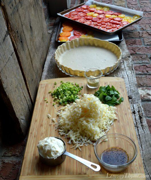 Tomato & Cheddar Pie1