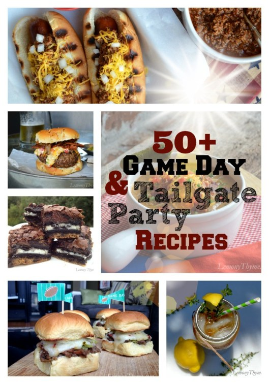 Game Day Recipe Collage from Lemony Thyme