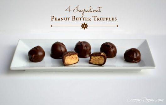 Peanut Butter Truffles from Lemony Thyme