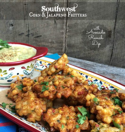 Southwest Corn & Jalepno Fritters from Lemony Thyme