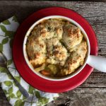 Roasted Veggie Pot Pie with Herbed Biscuit Crust