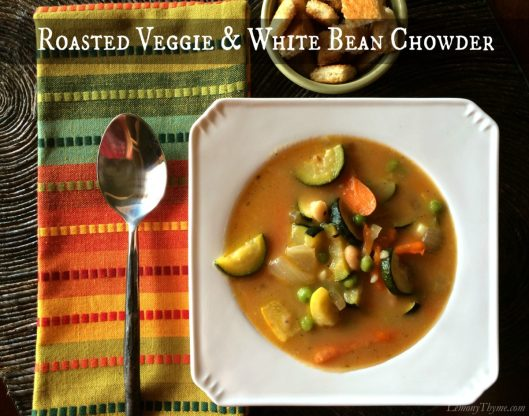 Roasted Veggie & White Bean Chowder from Lemony Thyme