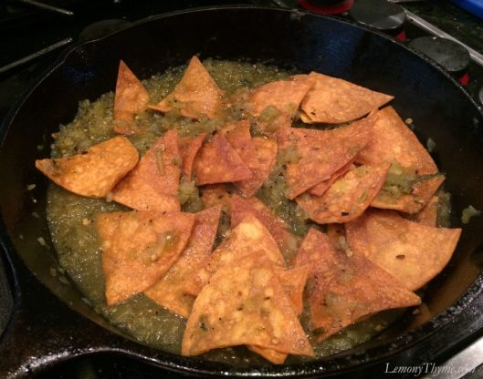 Chicken Chilaquiles3